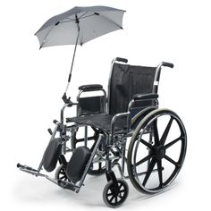3356075 The umbrella protects wheelchair users against the rain and the sun. The umbrella/sunshade has a diameter of 72cm, a strengthened frame what makes it more resistant to gusts and a UV coating on the inside to protect the skin against UV radiation. The handle is 70cm long. The middle part is made of metal, the lower and upper part are flexible what makes it possible to bend the umbrella in the desired angle. By pushing the button on the underside of the handle the umbrella can be…