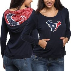 Houston Texans Women's Blue Sublime Knit Hoodie