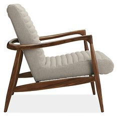 $1,399 for chair (+$649 for ottoman)  Callan Chair & Ottoman in Trip Fabric - Chairs - Living - Room & Board