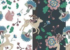 Deer Floral Pattern