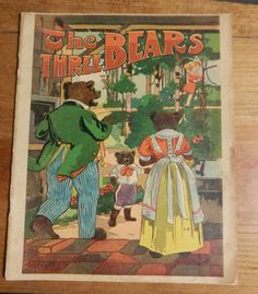 childerns book vintage The Three Bears M. A. Donohue & Co circa 1920's by BandCEmporium