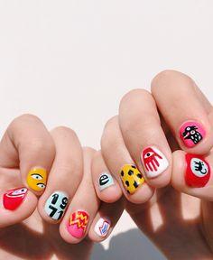 Nail Design Stiletto, Nail Design Glitter, Crazy Nails, Funky Nails, Crazy Nail Art, Halloween Nail Designs, Halloween Nails, Scary Halloween, Group Halloween