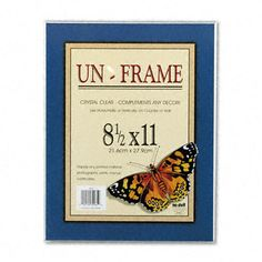 Un-Frame Box Photo Frame, Plastic, 8-1/2 x 11, Clear