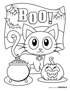 Coloring Pages for Kids Halloween. 20 Coloring Pages for Kids Halloween. Free Printable Halloween Coloring Pages for Teenagers Free Scary Halloween Coloring Pages, Halloween Coloring Pictures, Halloween Coloring Pages Printable, Chat Halloween, Moldes Halloween, Halloween Worksheets, Manualidades Halloween, Free Printable Coloring Pages, Halloween Town