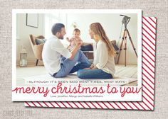 Photo Christmas card Christmas card Holiday card by CardsEtcetera