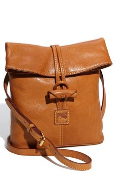 Dooney & Bourke Florentine Toggle Crossbody Bag in Brown (natural) - Lyst Fashion Handbags, Purses And Handbags, Leather Handbags, Leather Bags, Leather Crossbody Bag, Outdoor Fotografie, Leather Projects, Beautiful Bags, Leather Working