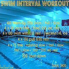 Swim Interval Workout
