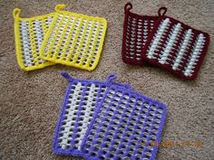 Crochet hot pads made from recycled pop tabs. $7.00, via Etsy.