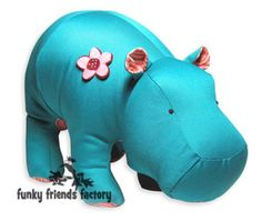 Funky Friends Factory Heather Hippo sewing pattern