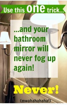 Use This One Trick And Your Bathroom Mirror Will Never Fog Up Again