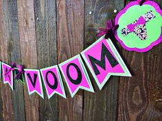 Lingerie Shower Bachelorette Party Va Va Voom Banner for Lingerie Party, Etsy. SO CUTE!
