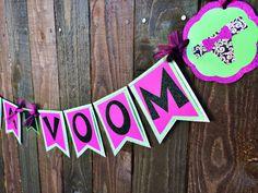 Lingerie Shower Bachelorette Party Va Va Voom Banner for Lingerie Party, Etsy. SO CUTE!