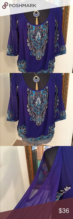 ⭐️INC INTERNATIONAL CONCEPTS TOP 💯AUTHENTIC INC INTERNATIONAL CONCEPTS STUNNING TOP 💯AUTHENTIC. THIS IS SO BEAUTIFUL . IT JAS BEAUTIFUL SHEER SLEEVES AND SHOULDER CUT OUTS. TOTALLY ON TREND AND PERFECT FOR ANY OCCASION. THE COLOR IS PURPLE. THE FABRIC IS SO RICH FEELING. THE SIZE IS 1X INC International Concepts Tops