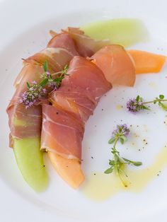 Grill & Chill with Glenmorgan's Three-Course Prix Fixe Dinner Menu this summer and try the Prosciutto & Melon Plate with EVOO and Garden Herbs for your first course.