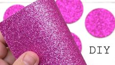Decorations from Glitter foamiran. Fabric Flowers, Paper Flowers, Foam Sheets, Dyi, Glitter, Make It Yourself, Ornaments, Videos, Crafts