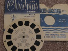 Vintage set of Christmas View-Master reels