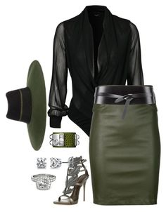 """""""Dirty Olive Martini"""" by fashionkill21 ❤ liked on Polyvore featuring Sisters Point, Getting Back To Square One, Maison Michel, Giuseppe Zanotti, Hermès, BERRICLE, Allurez and Isabel Marant"""