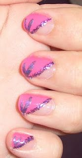 Diagonal French Tip Nail Art