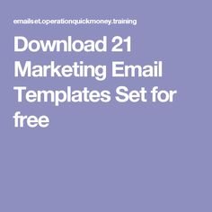 Download 21 Marketing Email Templates Set for free