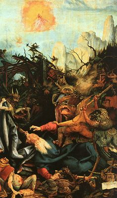 Temptation of Saint Anthony Matthias Grunewald 1512 1515 Unframed Art Print Temptation Of St Anthony, Janssen, Android Jones, Renaissance Kunst, Hieronymus Bosch, Museum, Art Database, Albrecht Durer, Medieval Art