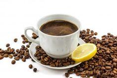 Kawa espresso z cytryną na migrenę