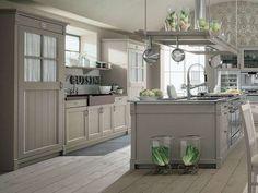 Arredare la cucina in stile country chic - Cucina country chic grigia