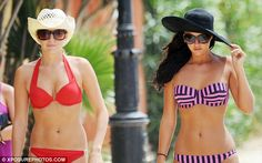 Miss Bright and Miss Mecklenburgh strutted along to a beach in Marbella in heels, bikinis and wide-brimmed hats but disaster struck when the wind set in. Foxy Bingo, Star Facts, Celebrity Big Brother, 24. August, Uk Tv, Wide Brimmed Hats, Bikini Set, How Are You Feeling