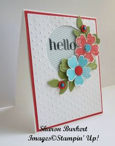 Flower Shop stamp set and matching Pansy Punch, Circle Framelit, Candy Dots, Itty Bitty Shapes punch pack, DSP paper stack.