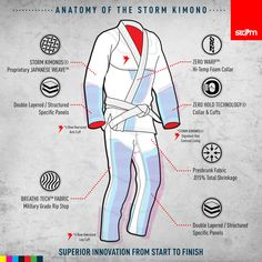 Anatomy of Storm Kimonos available at MSM Fight Shop Miami and Davie #jiujitsu #miami #broward #stormgi #bjjkimono