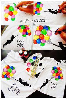 Fly - pictura manuala tricouri fetite! Unique, Artist, Shirt, Atelier, Dress Shirt, Artists, Shirts