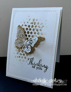 There is a photo inspiration over at Inkspirational this time and the colours really appealed to me. SO together with the coffee shades, I went with the butterfly theme too!I cut one from Burlap an Handmade Birthday Cards, Greeting Cards Handmade, Butterfly Cards, Sympathy Cards, Paper Cards, Creative Cards, Anniversary Cards, Scrapbook Cards, Homemade Cards