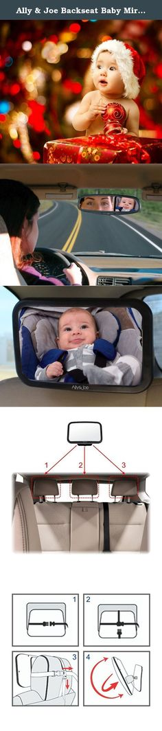 Ally & Joe Backseat Baby Mirror - For Use With Rear Facing Infant Car Seats. Look forward to stress-free car journeys with the Ally & Joe baby car mirror. Designed with safety in mind, this extra large baby mirror gives a clear top-to-toe view of your baby in their rear-facing car seat. It's made using high quality materials and, once mounted, holds its position perfectly. You'll soon wonder how you ever managed without it! Ally & Joe are committed to bringing you great quality products…