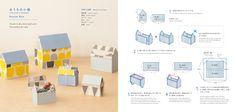 DIY instructions: How to create 'HOUSE BOX' with using Yurio Seki's Scandinavian Design PAPER BOOK