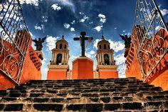 La Iglesia De Los Remedios En Cholula, Puebla Mexico