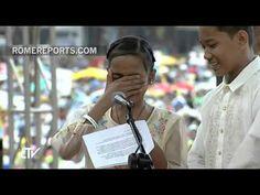 Papa se conmueve con la historia y las lágrimas de estos niños de la calle