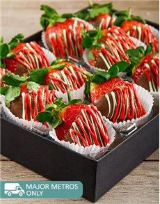 Confectionary Cakes and Cupcakes: Red and White Milk Chocolate Dipped Strawberries!