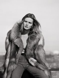 edita vilkeviciute black white4 Edita Vilkeviciute Poses for Mark Peckmezian in Black & White for Holiday Magazine