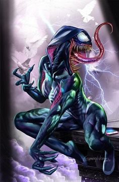 Marvel Comic Book Artwork • EDGE OF THE VENOMVERSE #1 By Greg Horn Variant Cover. Available to buy at our online store www.7ate9comics.com