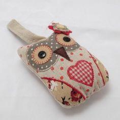 Vintage Chic Fabric Floral Hanging Owl Decoration: Amazon.co.uk: