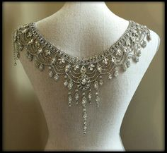Bridal Shoulder Necklace Backdrop Necklace Backless Bridal Wedding jewelry Sexy elegant rhinestone in silver down the back Shoulder Jewelry, Shoulder Necklace, Stylish Jewelry, Fashion Jewelry, Bracelet Tutorial, Body Jewelry, Wedding Accessories, Wedding Jewelry, Jewelry Collection