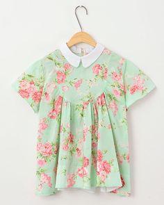 kawaii fashion kawaii shirt Korea lovely flowers lolita shirt $22.99 http://sweetbox.storenvy.com/products/2114364-korea-lovely-flowers-lolita-shirt