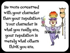 Character over Reputation