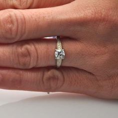 Leigh Jay Nacht Inc. - Art Deco Engagement Ring - VR1447