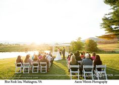 Wedding officiated by No Ordinary Ordained at Blue Rock Inn. Photography by Aaron Watson Photography.