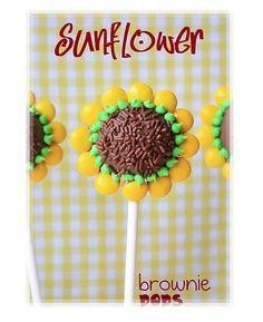Pretty Sunflower Cake Pops