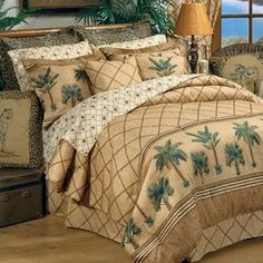 Delectably Yours Kona Tropical Palm Tree Bedding Ensemble By Karin Maki For Kimlor Available