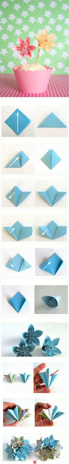 DIY Origami Paper Flower #diy #craft #origami