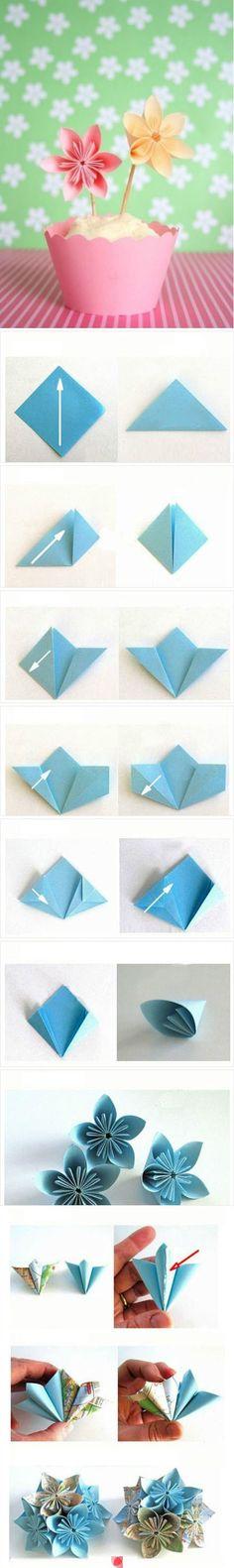 DIY Origami Paper Flower #diy #craft #origami