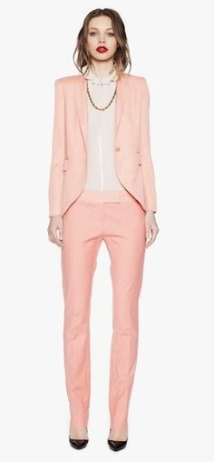Dark red with baby pink! Dream combo, not huge on the low waisted pants though  Camilla & Marc Fall 2012 One Love Dusty Pink Pants