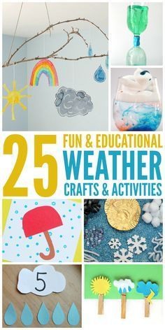Community Helpers Preschool Discover 25 Fun Weather Activities and Crafts for the Whole Family! 25 Fun Weather Activities and Crafts Kid Science, Preschool Science, Preschool Crafts, Crafts For Kids, Science Experiments, Weather Experiments, Kids Educational Crafts, Weather Science, Fun Crafts